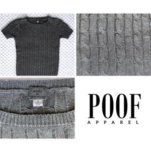 SALE🎉🎉Small Cable Sweater Top, Shortsleeved
